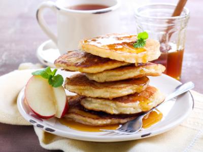 Appelpannenkoekjes met Rozijnen