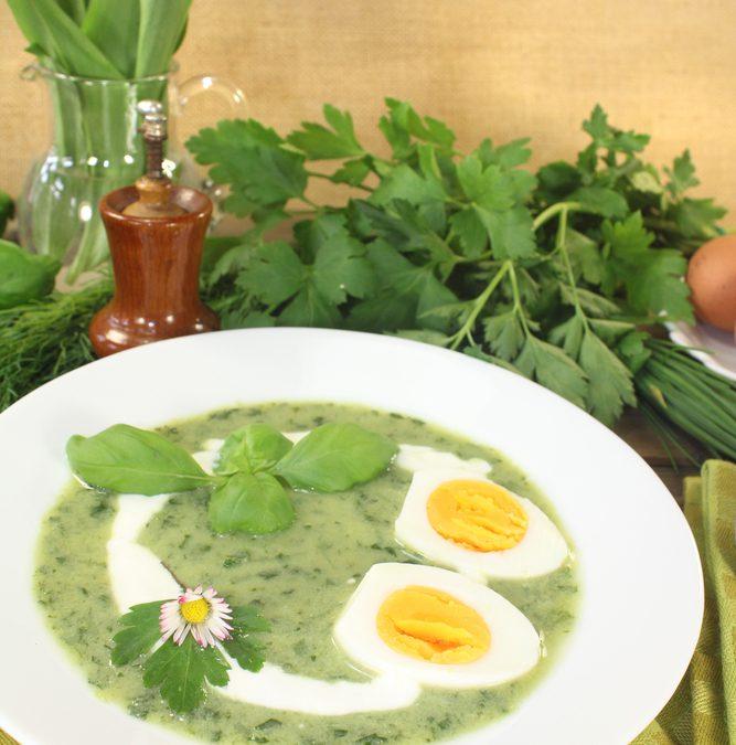 Verse Kruiden  Soep met Eieren