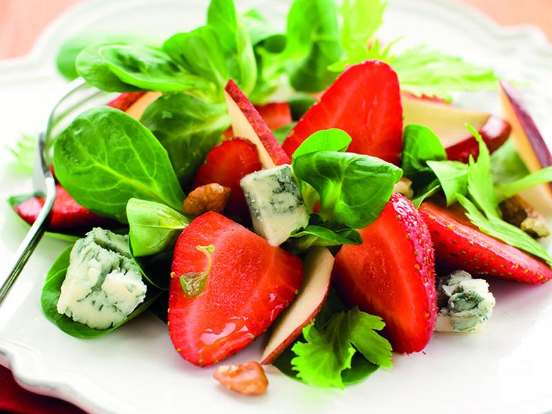 Perzik Hazelnoot Salade