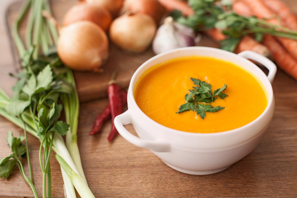 Pittige Wortel Sinaasappel Soep