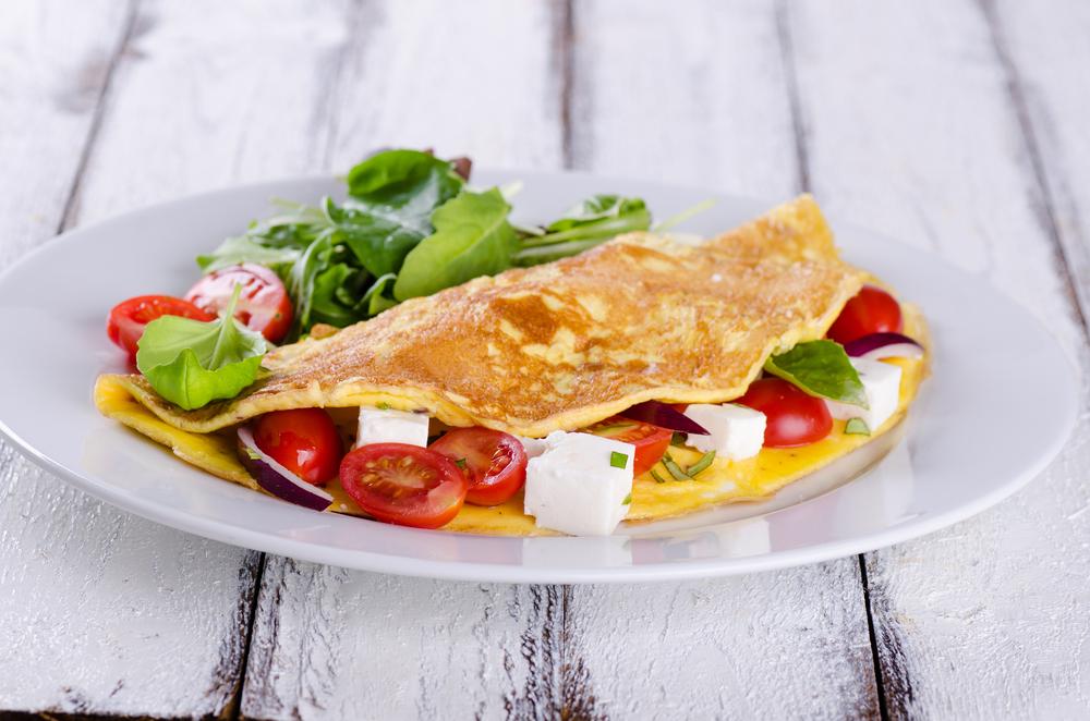 Omelet met Cherrytomaatjes en Feta